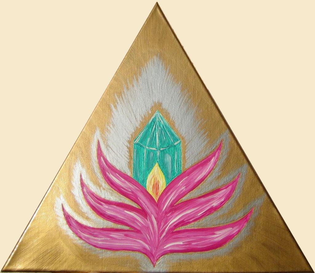 Juwel im Lotus 40 x 40 x 40 cm